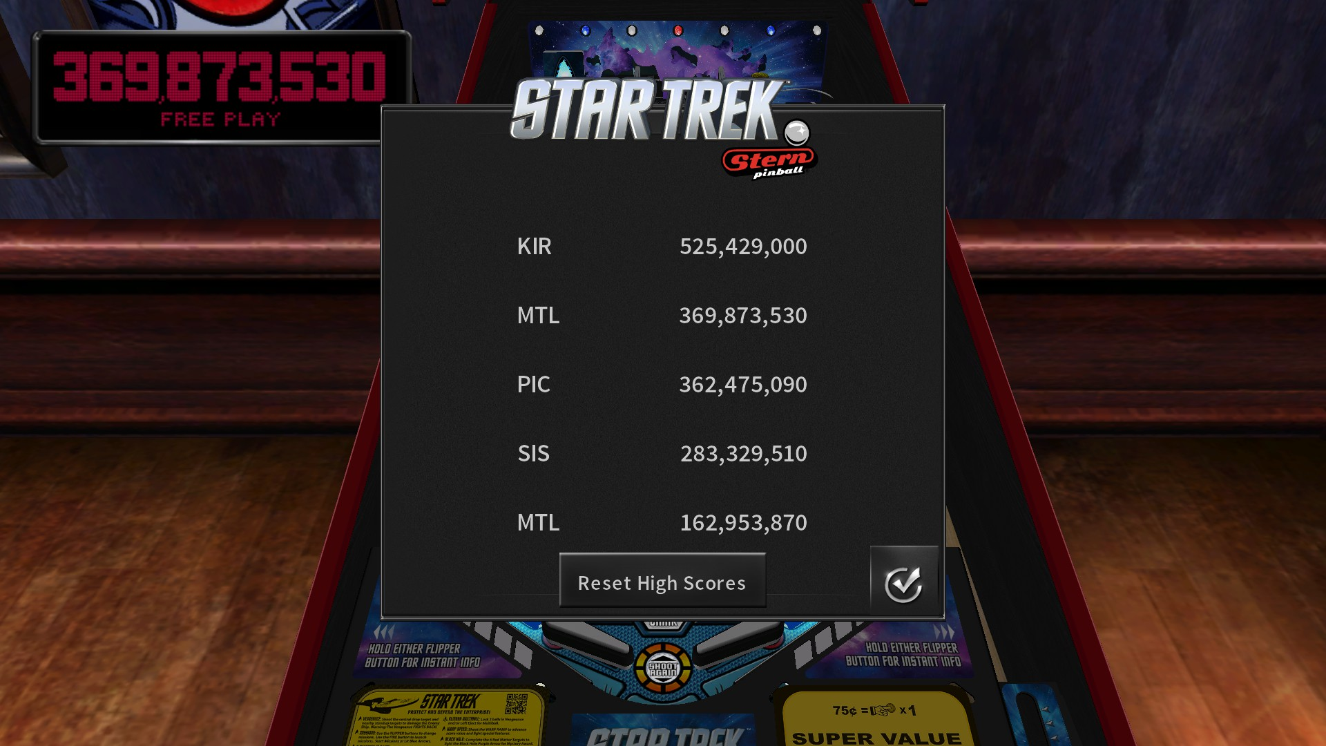 Mantalow: Pinball Arcade: Star Trek: Vengeance Premium (PC) 369,873,530 points on 2018-09-17 01:38:48