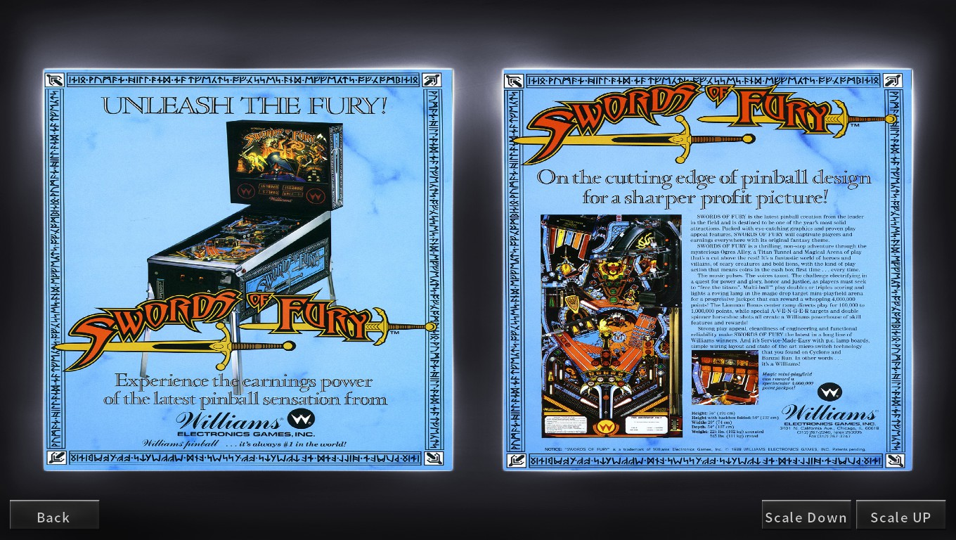 Mark: Pinball Arcade: Swords of Fury (PC) 3,089,670 points on 2018-05-22 00:39:39