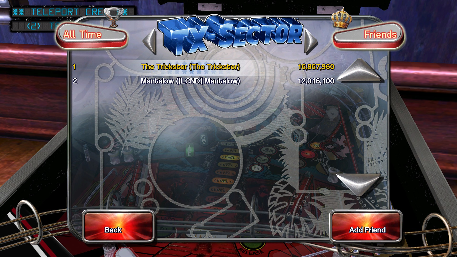 TheTrickster: Pinball Arcade: TX-Sector (PC) 16,867,960 points on 2016-06-10 08:39:38