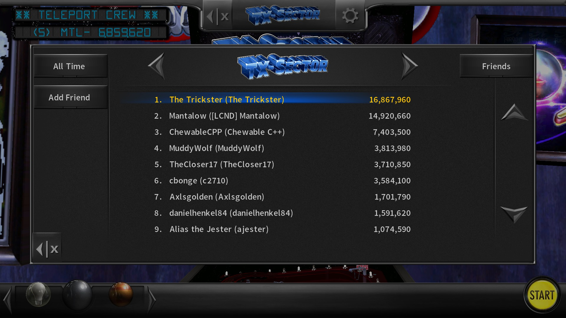 Mantalow: Pinball Arcade: TX-Sector (PC) 14,920,660 points on 2016-06-28 07:18:57