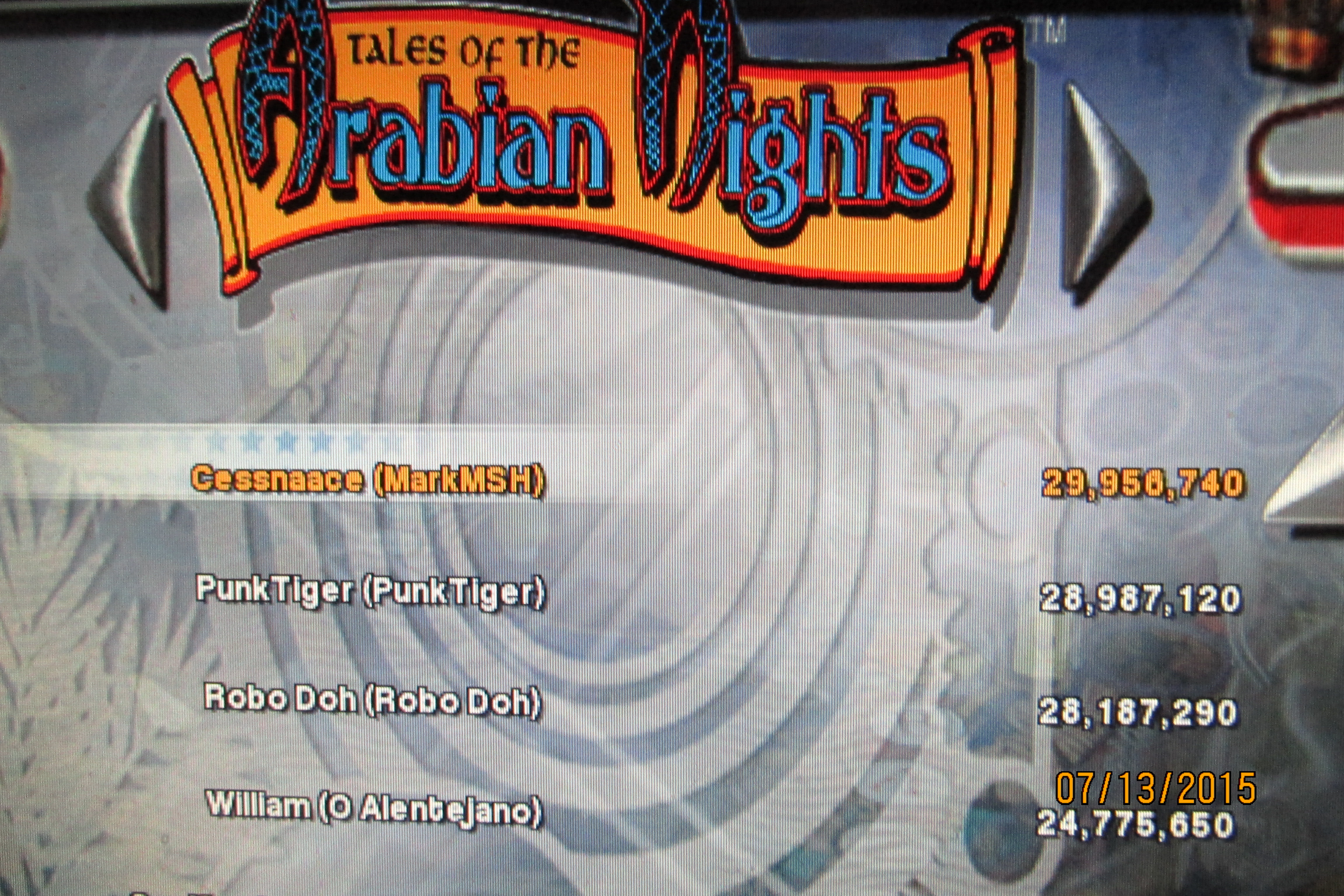 Mark: Pinball Arcade: Tales of the Arabian Nights [3 balls] (PC) 29,956,740 points on 2015-07-14 00:03:49