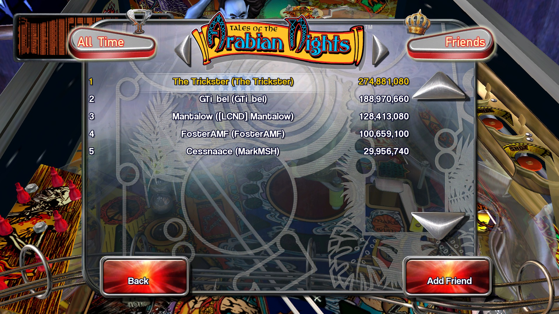 TheTrickster: Pinball Arcade: Tales of the Arabian Nights [3 balls] (PC) 274,881,080 points on 2016-02-25 15:34:14