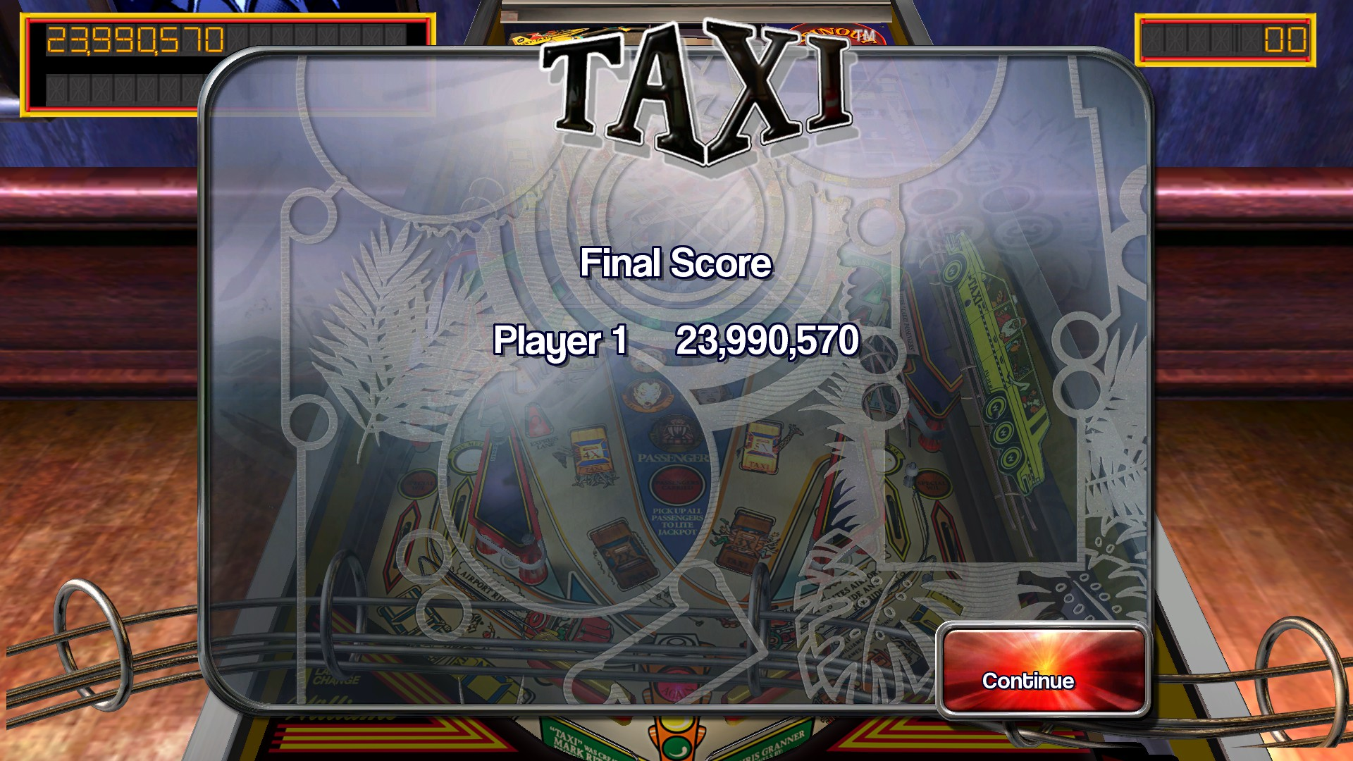 TheTrickster: Pinball Arcade: Taxi (PC) 23,990,570 points on 2016-03-02 07:36:13