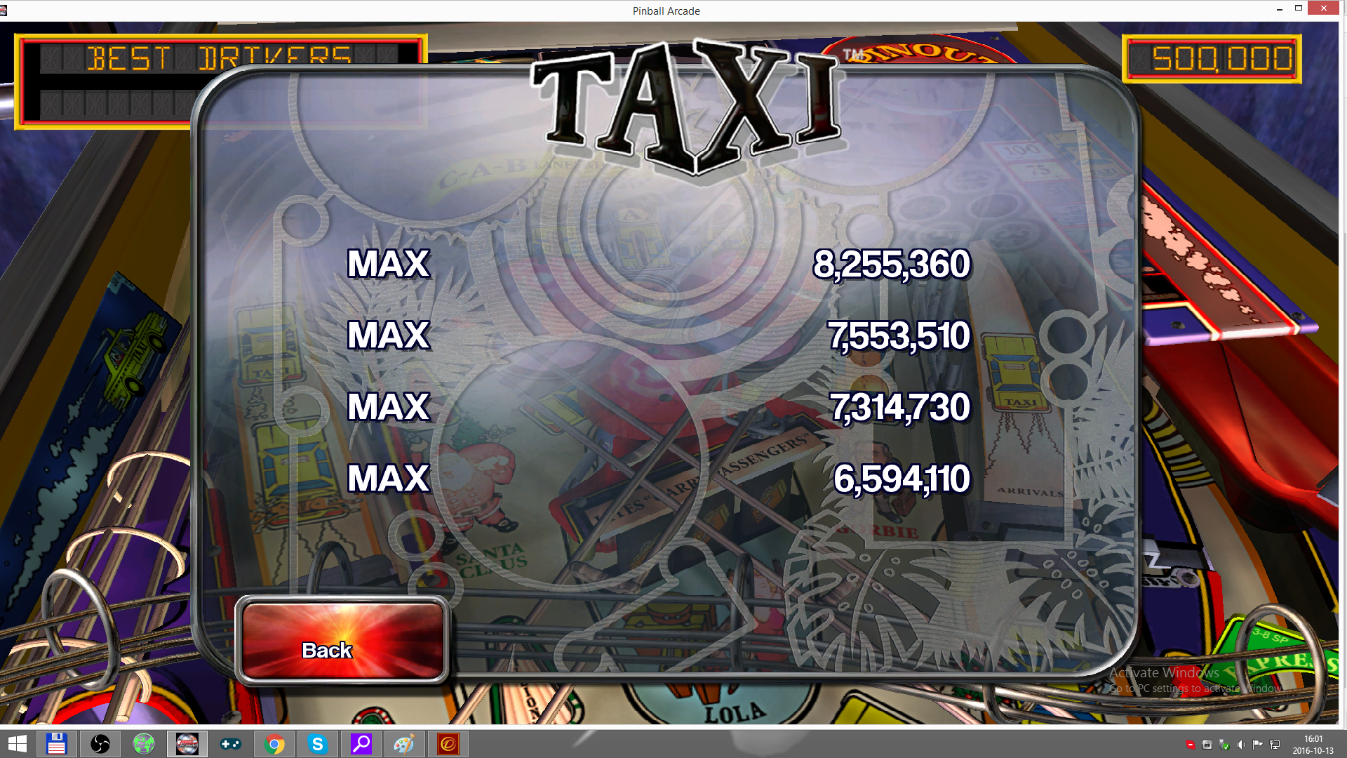 maxgreat: Pinball Arcade: Taxi (PC) 8,255,360 points on 2016-10-13 09:37:49