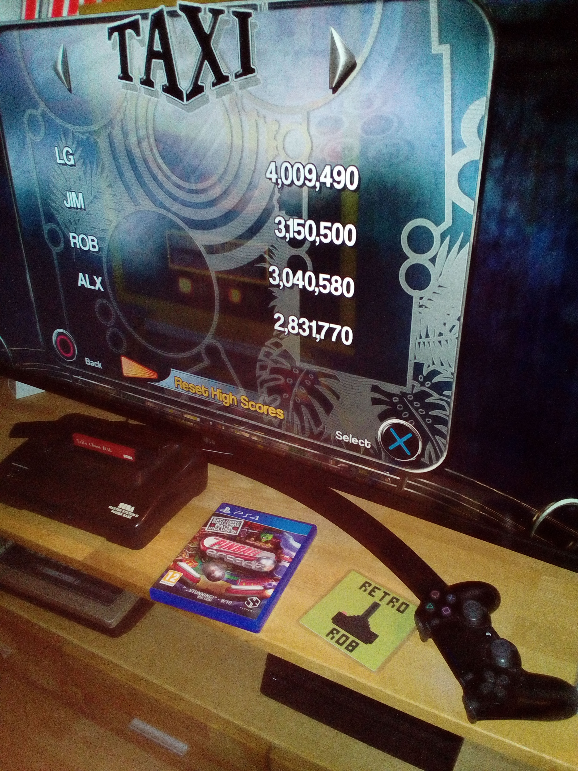 RetroRob: Pinball Arcade: Taxi (Playstation 4) 3,040,580 points on 2020-12-31 05:30:19