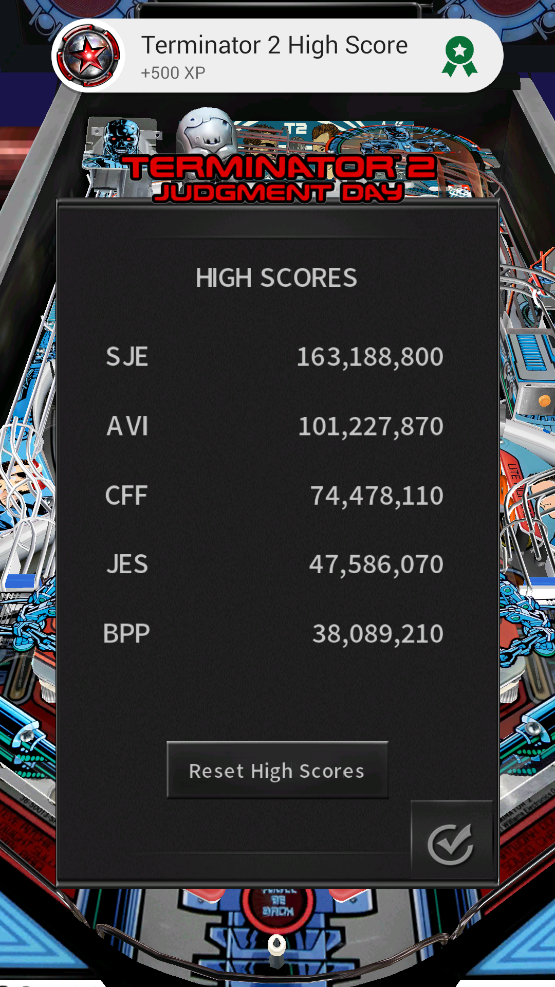 JES: Pinball Arcade: Terminator 2 (Android) 47,586,070 points on 2016-12-06 15:40:46