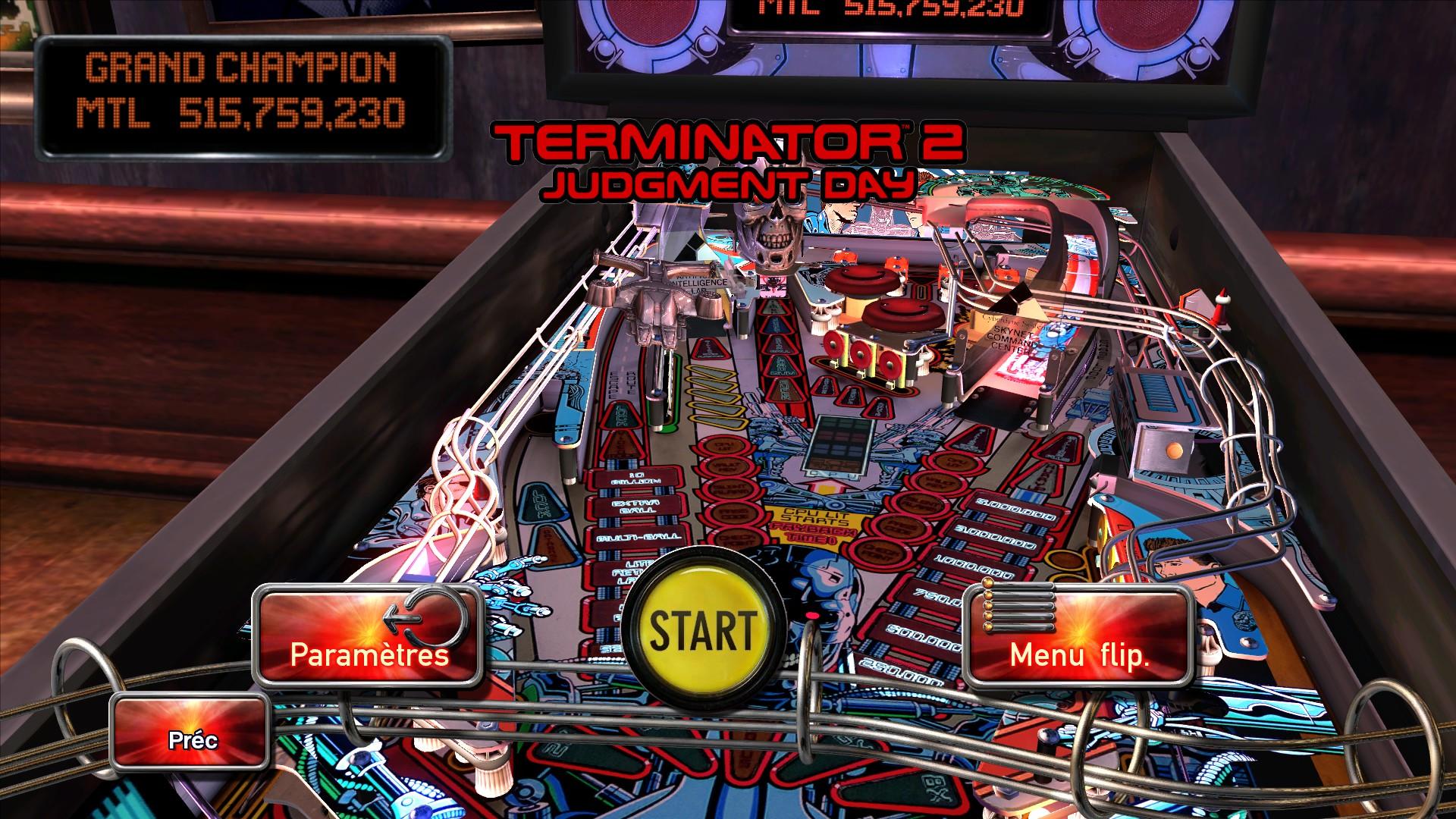 Mantalow: Pinball Arcade: Terminator 2 (PC) 515,759,230 points on 2015-09-25 05:07:50