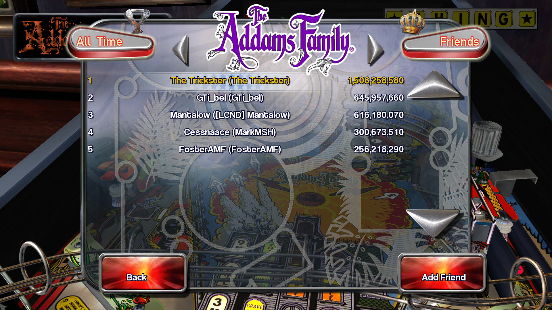 TheTrickster: Pinball Arcade: The Addams Family (PC) 1,508,258,580 points on 2015-11-12 18:13:05