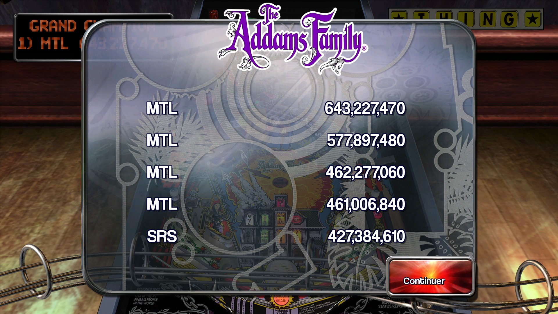 Mantalow: Pinball Arcade: The Addams Family (PC) 643,227,470 points on 2016-02-25 08:02:34