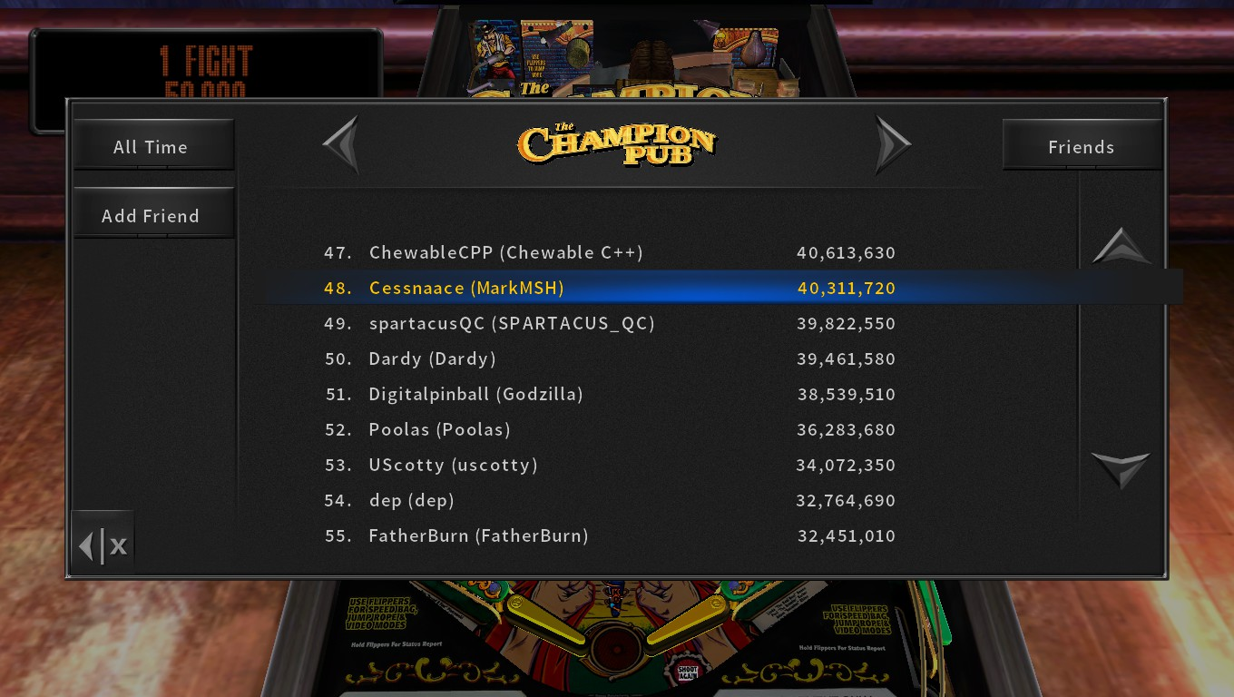 Mark: Pinball Arcade: The Champion Pub (PC) 40,311,720 points on 2018-05-05 23:50:43