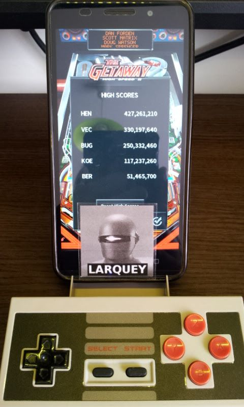 Larquey: Pinball Arcade: The Getaway: High Speed II (Android) 51,465,700 points on 2017-08-15 11:03:02