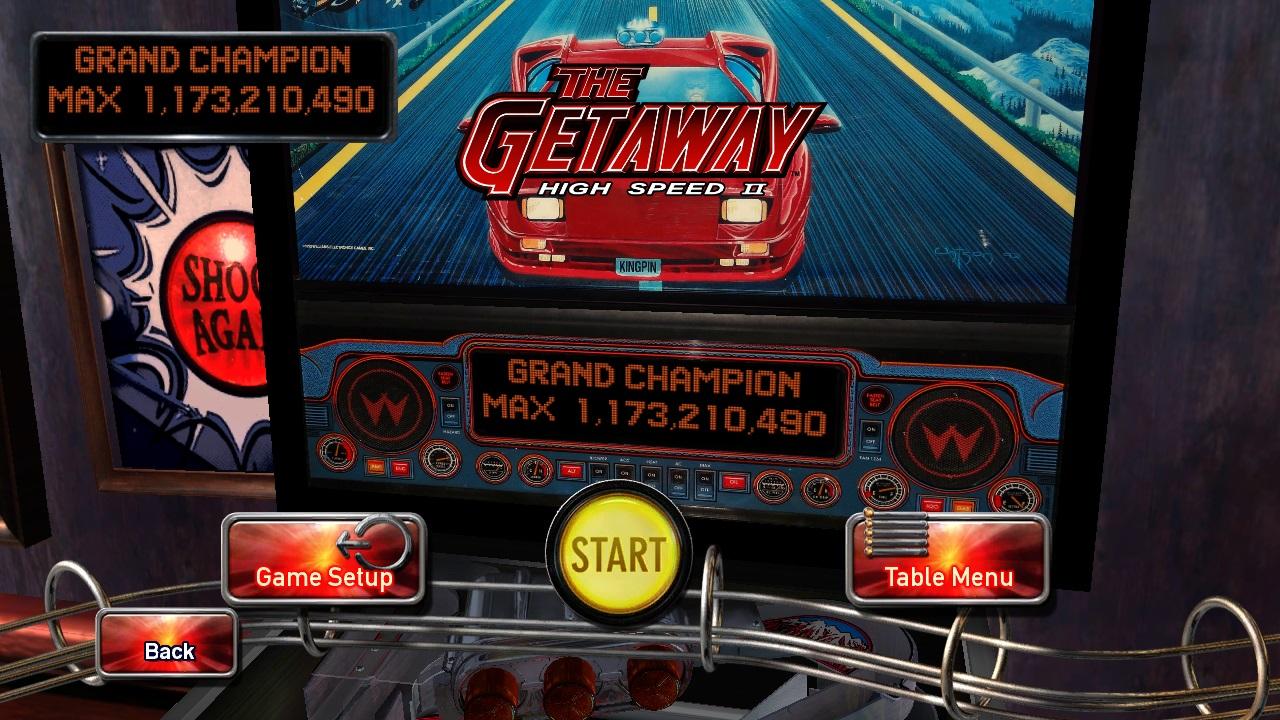 Maxwel: Pinball Arcade: The Getaway: High Speed II (PC) 1,173,210,490 points on 2015-12-20 17:15:43