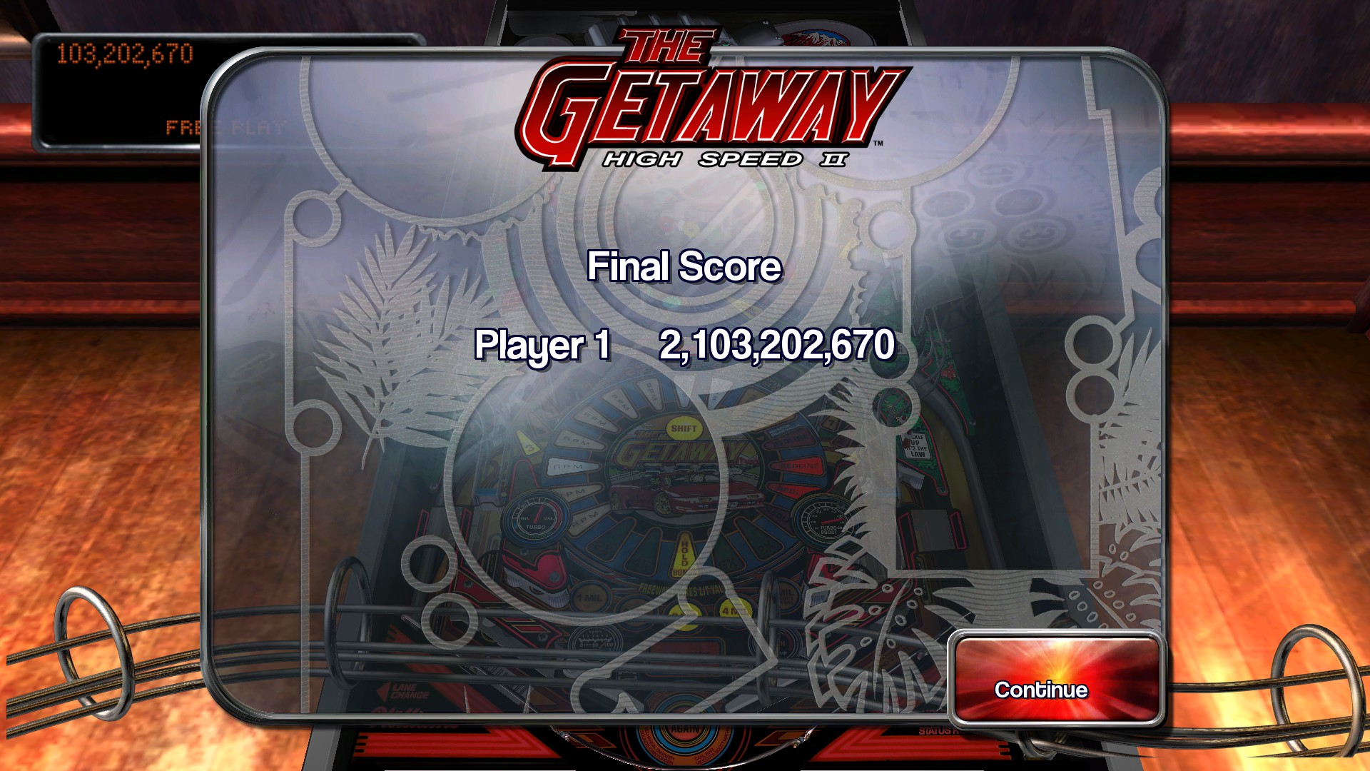 TheTrickster: Pinball Arcade: The Getaway: High Speed II (PC) 2,103,202,670 points on 2015-12-30 06:32:42