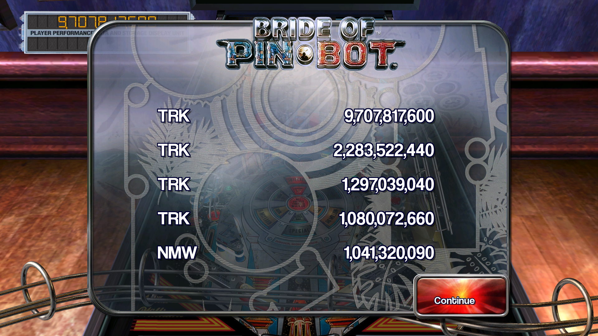 TheTrickster: Pinball Arcade: The Machine: Bride of Pin*Bot (PC) 9,707,817,600 points on 2015-09-22 09:30:58