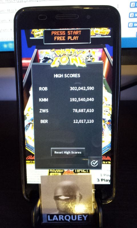 Larquey: Pinball Arcade: The Party Zone (Android) 12,017,110 points on 2017-01-29 02:56:44