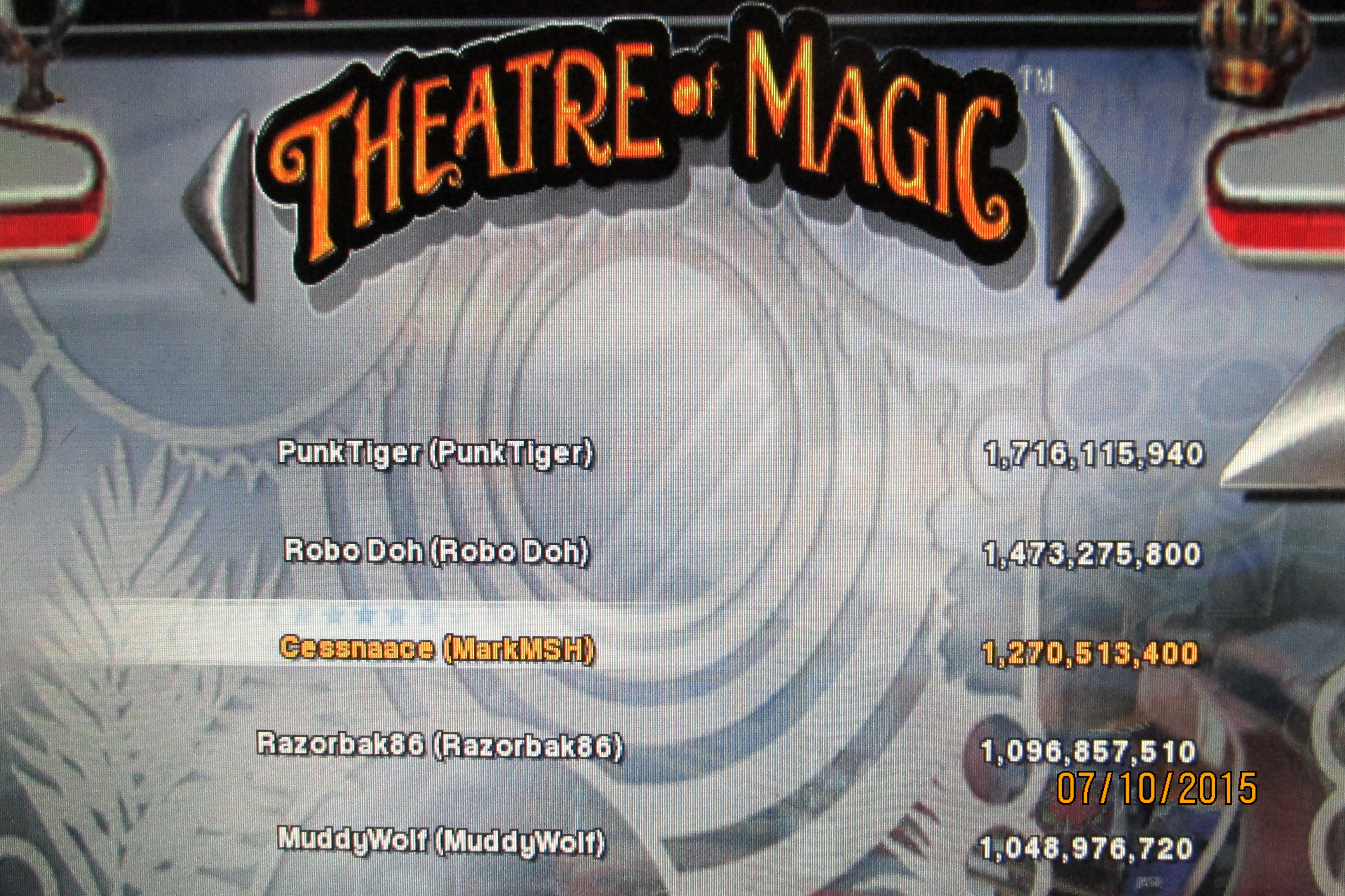 Mark: Pinball Arcade: Theatre of Magic (PC) 1,270,513,400 points on 2015-07-10 18:18:55