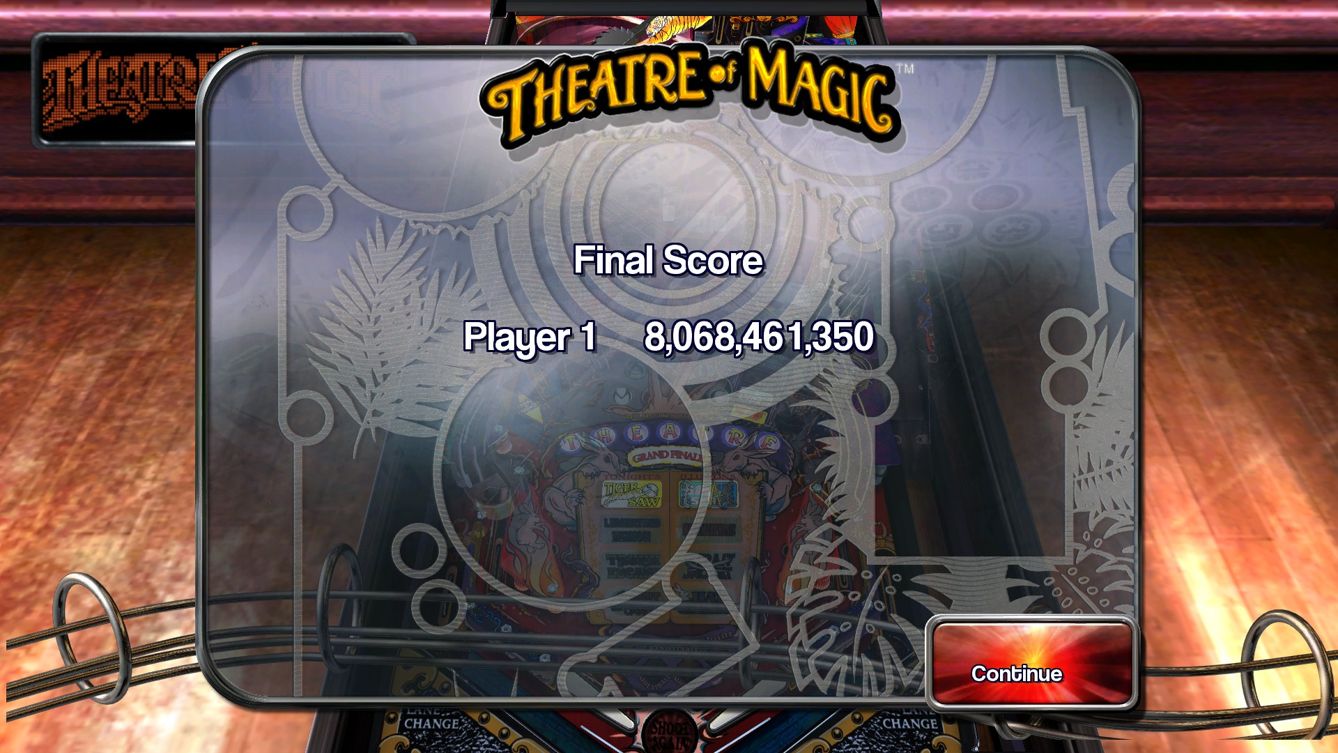 TheTrickster: Pinball Arcade: Theatre of Magic (PC) 8,068,461,350 points on 2015-11-22 00:12:35