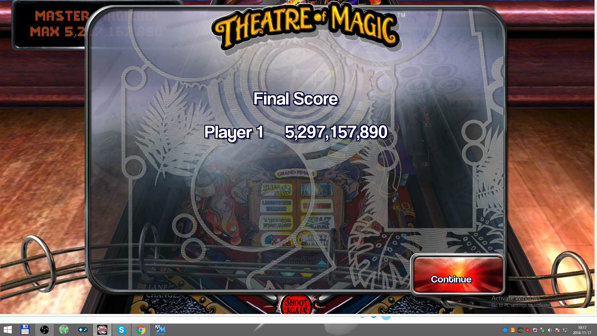 Pinball Arcade: Theatre of Magic 5,297,157,890 points