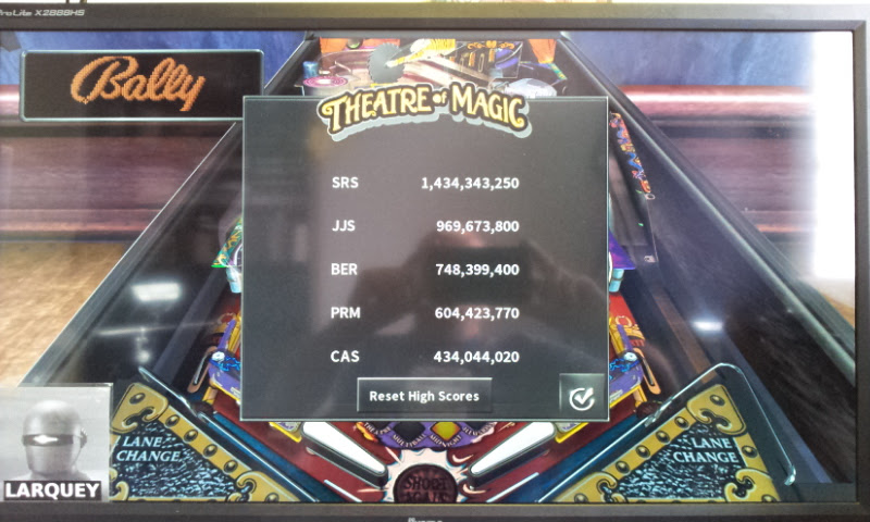 Larquey: Pinball Arcade: Theatre of Magic (PC) 748,399,400 points on 2017-08-15 11:42:27