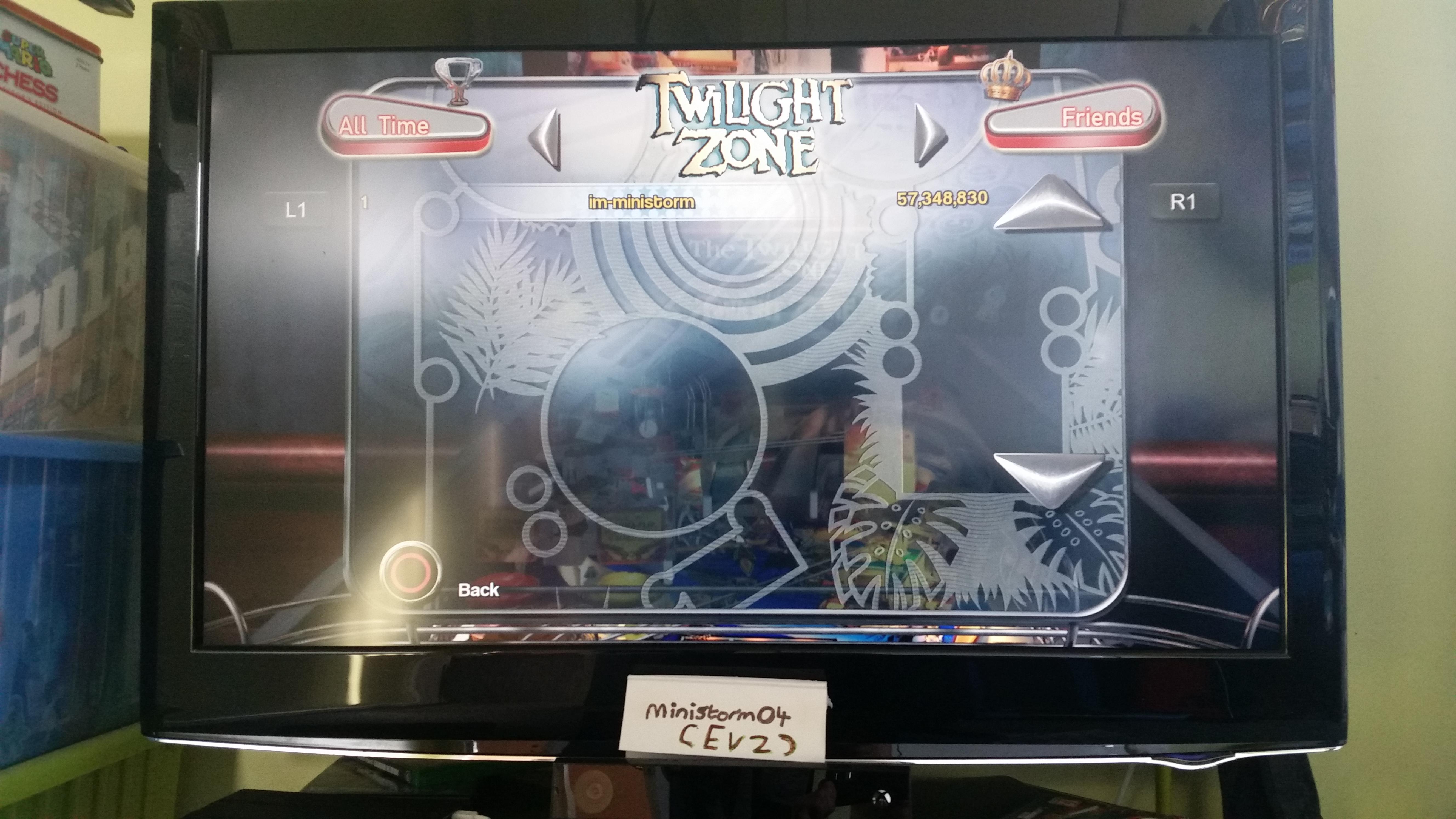 ministorm04: Pinball Arcade: Twilight Zone (Playstation 4) 57,348,830 points on 2019-06-03 12:36:04