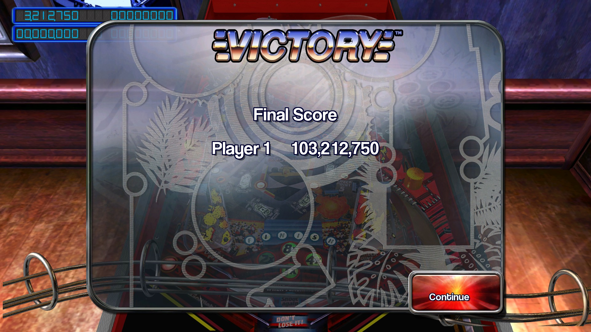 TheTrickster: Pinball Arcade: Victory (PC) 103,212,750 points on 2016-02-27 18:59:26