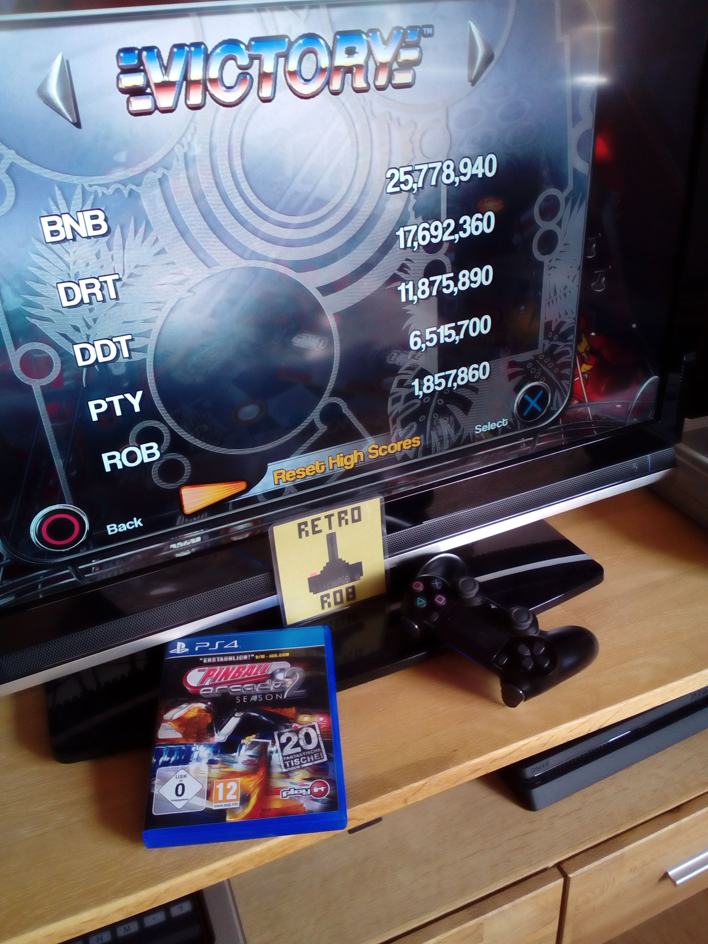 RetroRob: Pinball Arcade: Victory (Playstation 4) 1,857,860 points on 2020-05-11 08:27:15