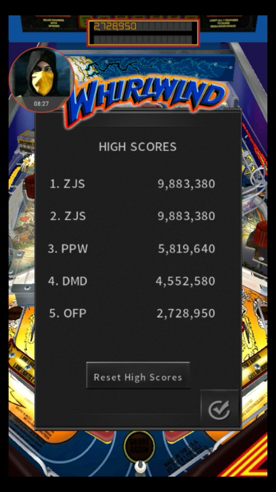 omargeddon: Pinball Arcade: Whirlwind (Android) 2,728,950 points on 2018-05-19 11:50:54