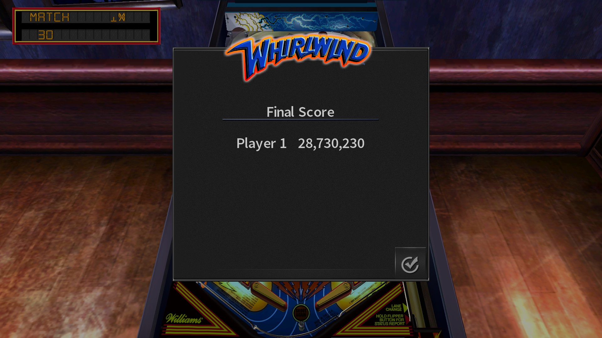 Mantalow: Pinball Arcade: Whirlwind (PC) 28,730,230 points on 2018-02-14 11:47:35