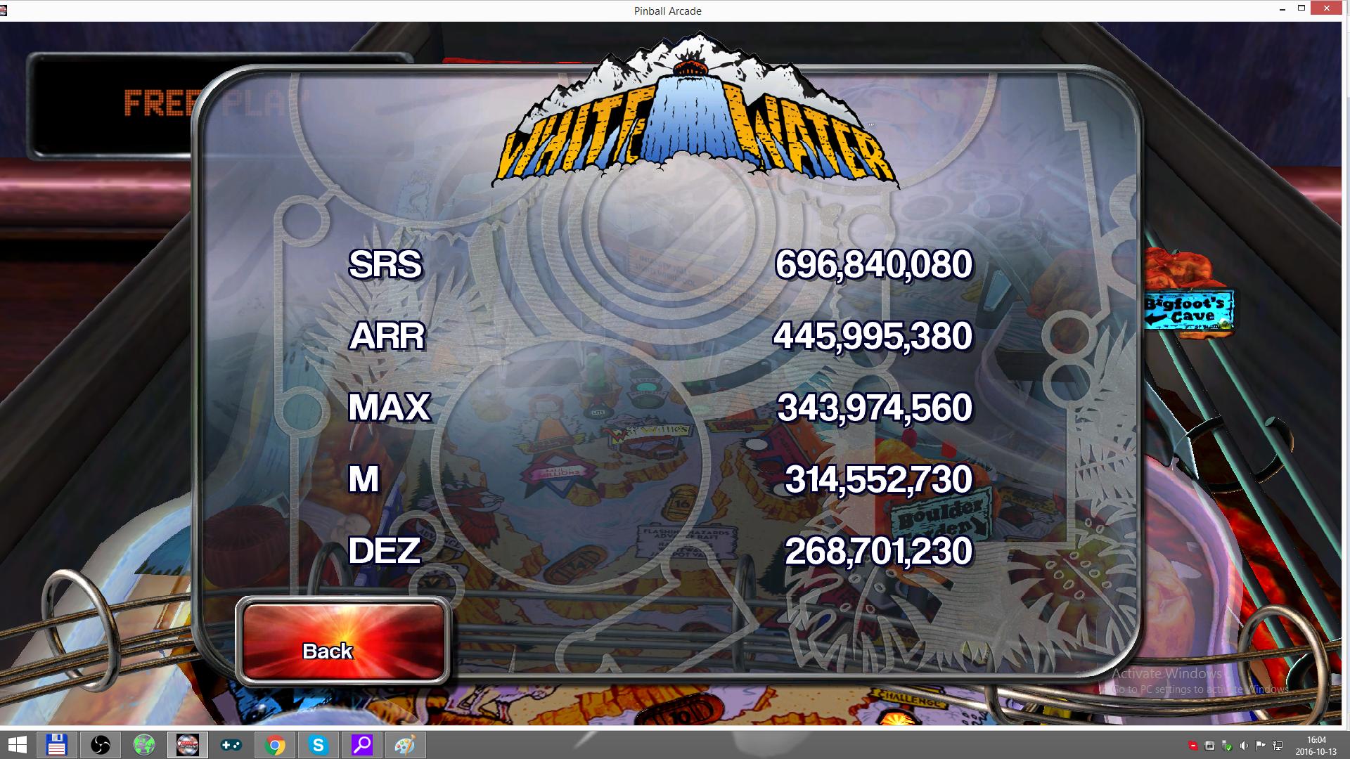 Pinball Arcade: White Water 343,974,560 points