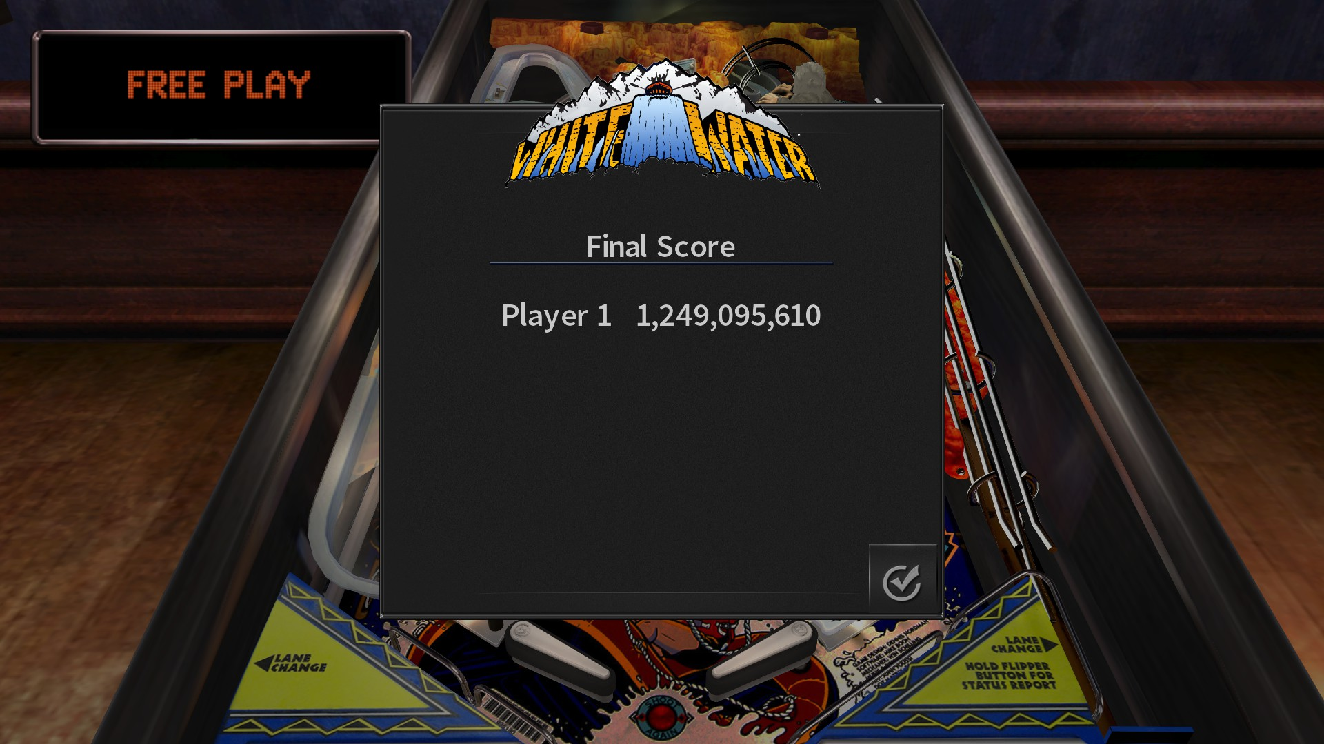 GTibel: Pinball Arcade: White Water (PC) 1,249,095,610 points on 2017-10-05 08:37:24
