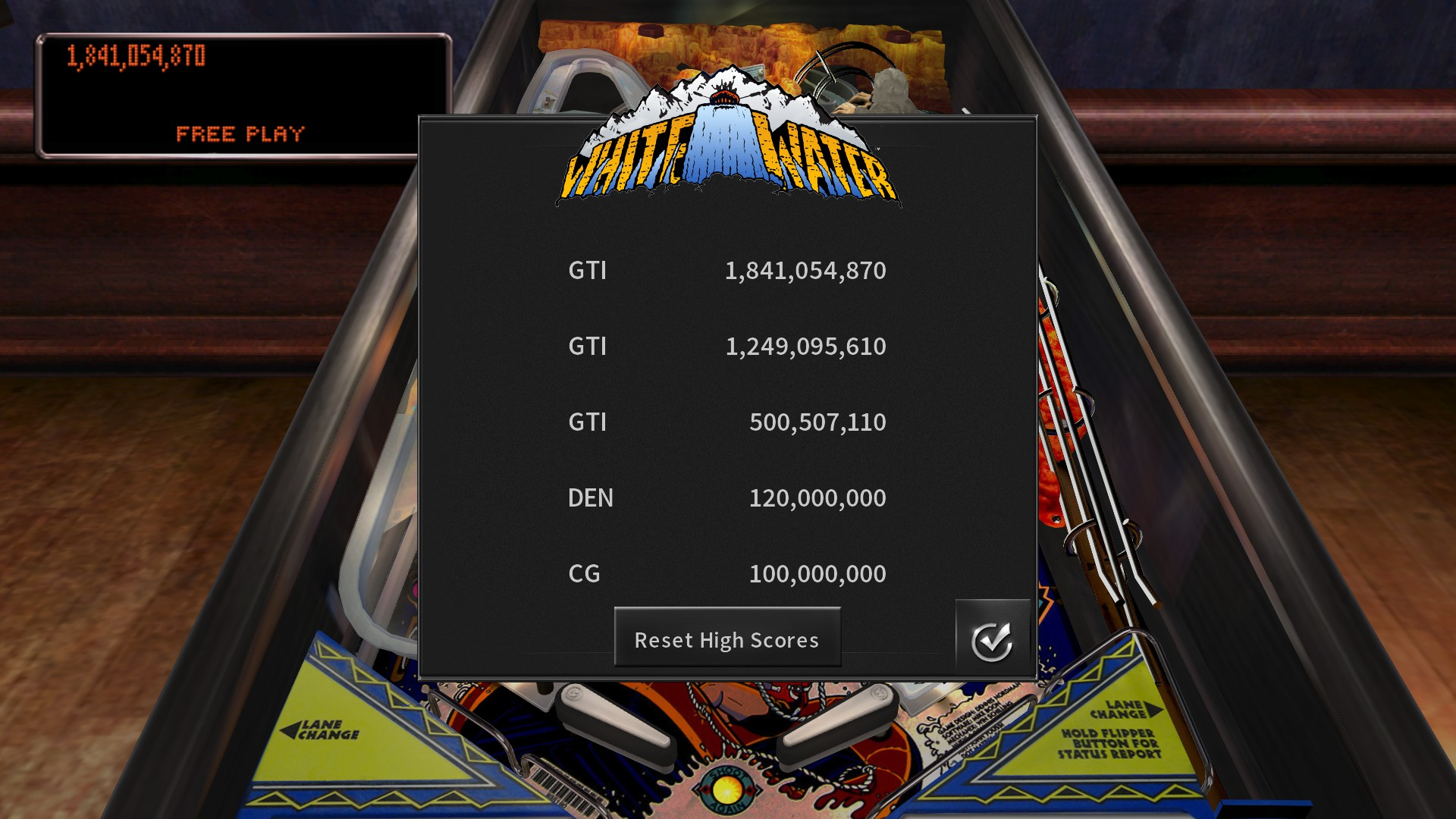 GTibel: Pinball Arcade: White Water (PC) 1,841,054,870 points on 2017-11-09 01:38:30