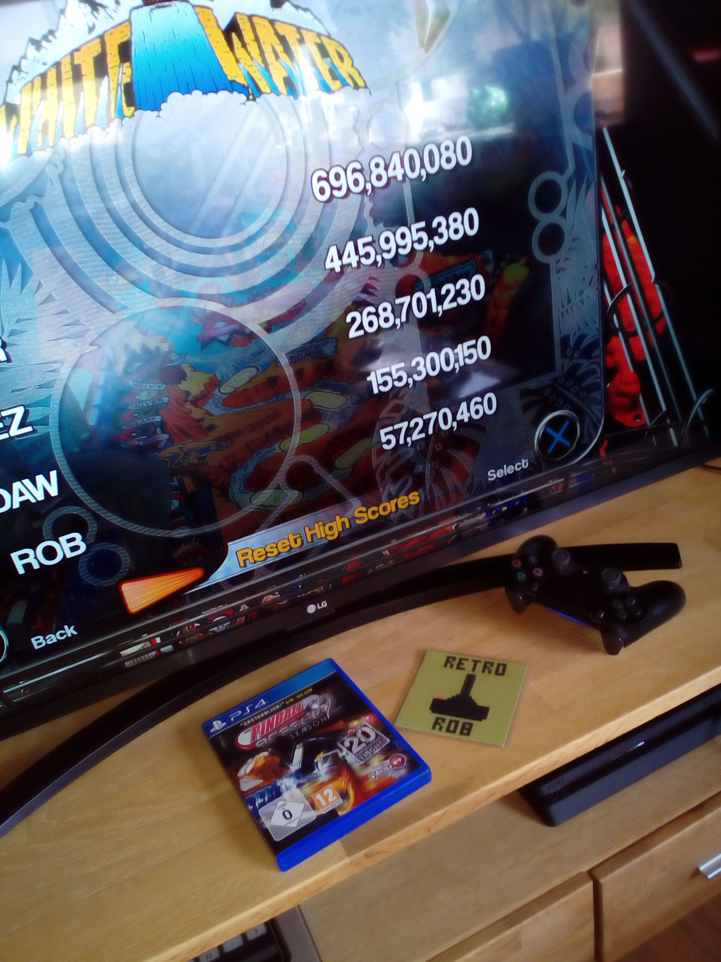 RetroRob: Pinball Arcade: White Water (Playstation 4) 57,270,460 points on 2020-05-17 05:25:31