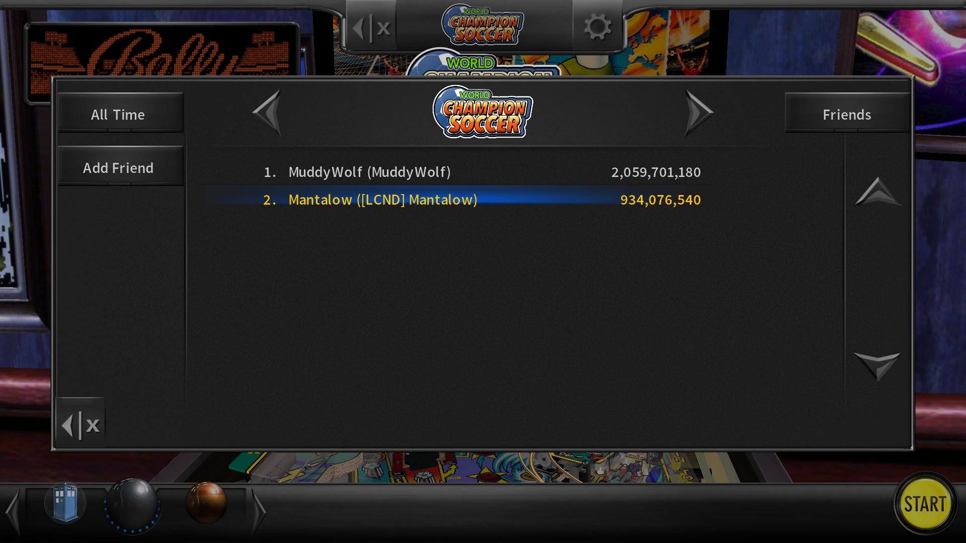 Mantalow: Pinball Arcade: World Championship Soccer (PC) 934,076,540 points on 2017-08-19 00:10:56