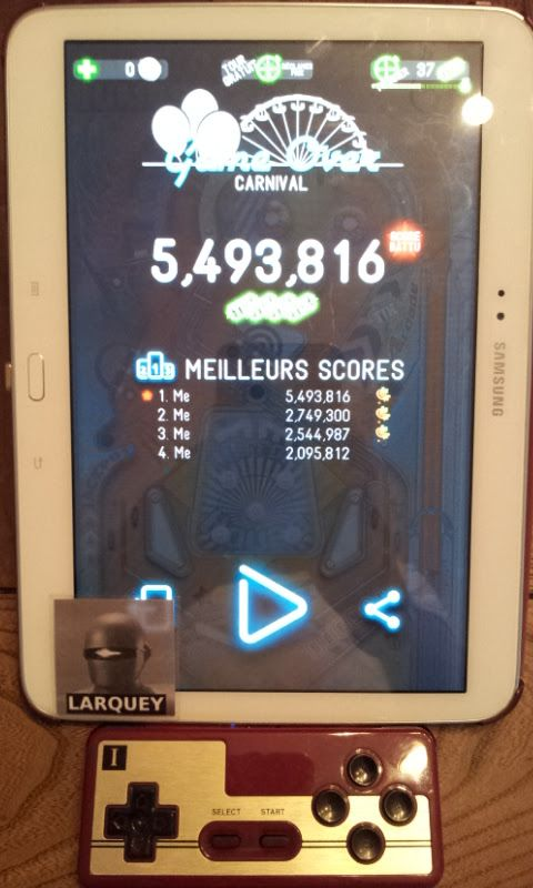 Larquey: Pinball Deluxe: Carnival (Android) 5,493,816 points on 2017-09-24 13:33:15