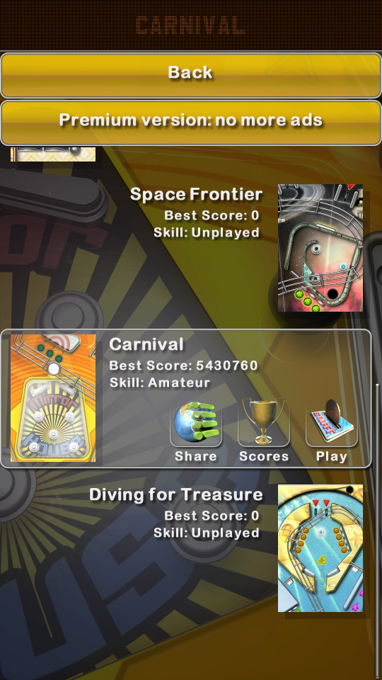 omargeddon: Pinball Deluxe: Carnival (Android) 5,430,760 points on 2018-07-16 21:42:48