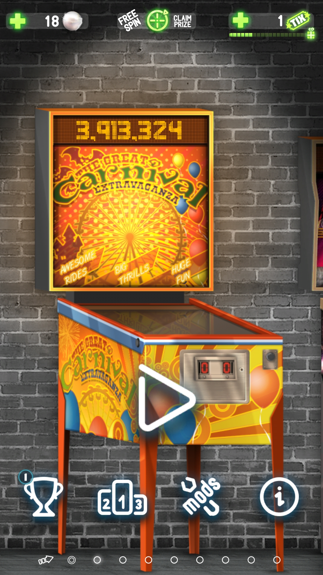 Bamse: Pinball Deluxe: Carnival (Android) 3,913,324 points on 2019-02-21 06:14:57