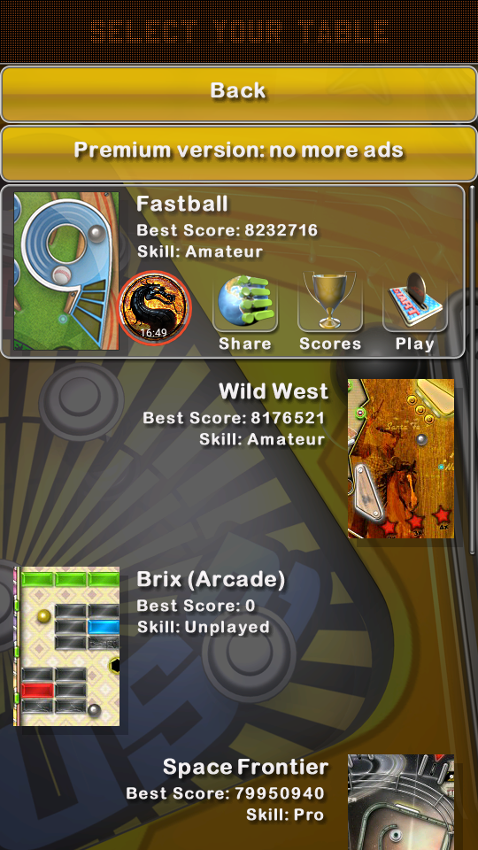 omargeddon: Pinball Deluxe: Fastball (Android) 8,232,716 points on 2019-05-07 01:30:29