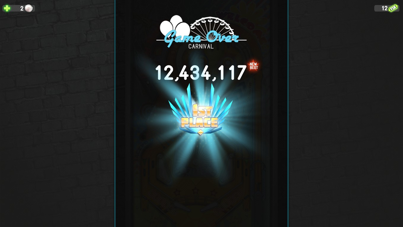 Pinball Deluxe: Reloaded: Carnival (PC) high score by Mark