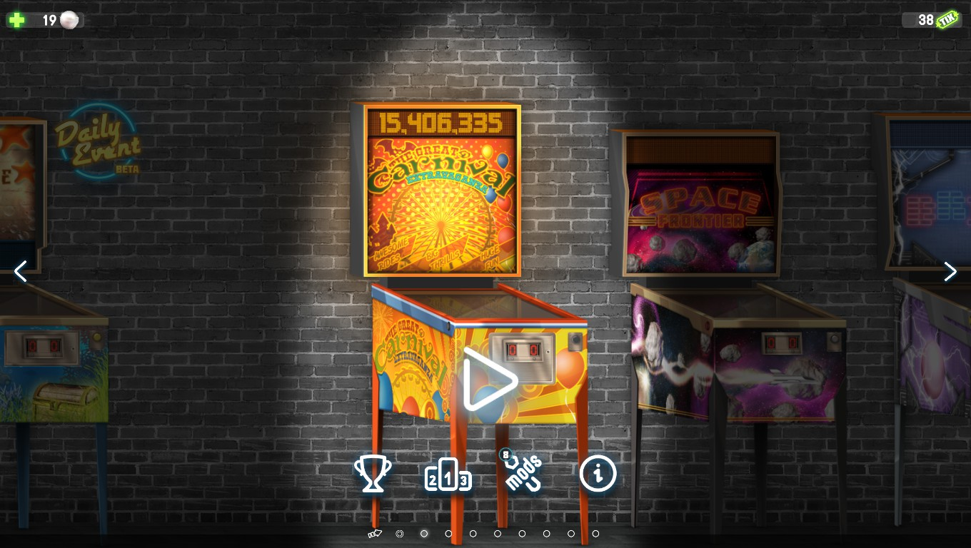 Mark: Pinball Deluxe: Reloaded: Carnival (PC) 15,406,335 points on 2018-08-15 00:41:15