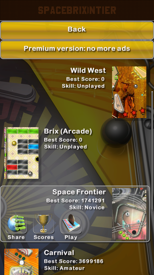 omargeddon: Pinball Deluxe: Space Frontier (Android) 1,741,291 points on 2018-05-27 01:29:30