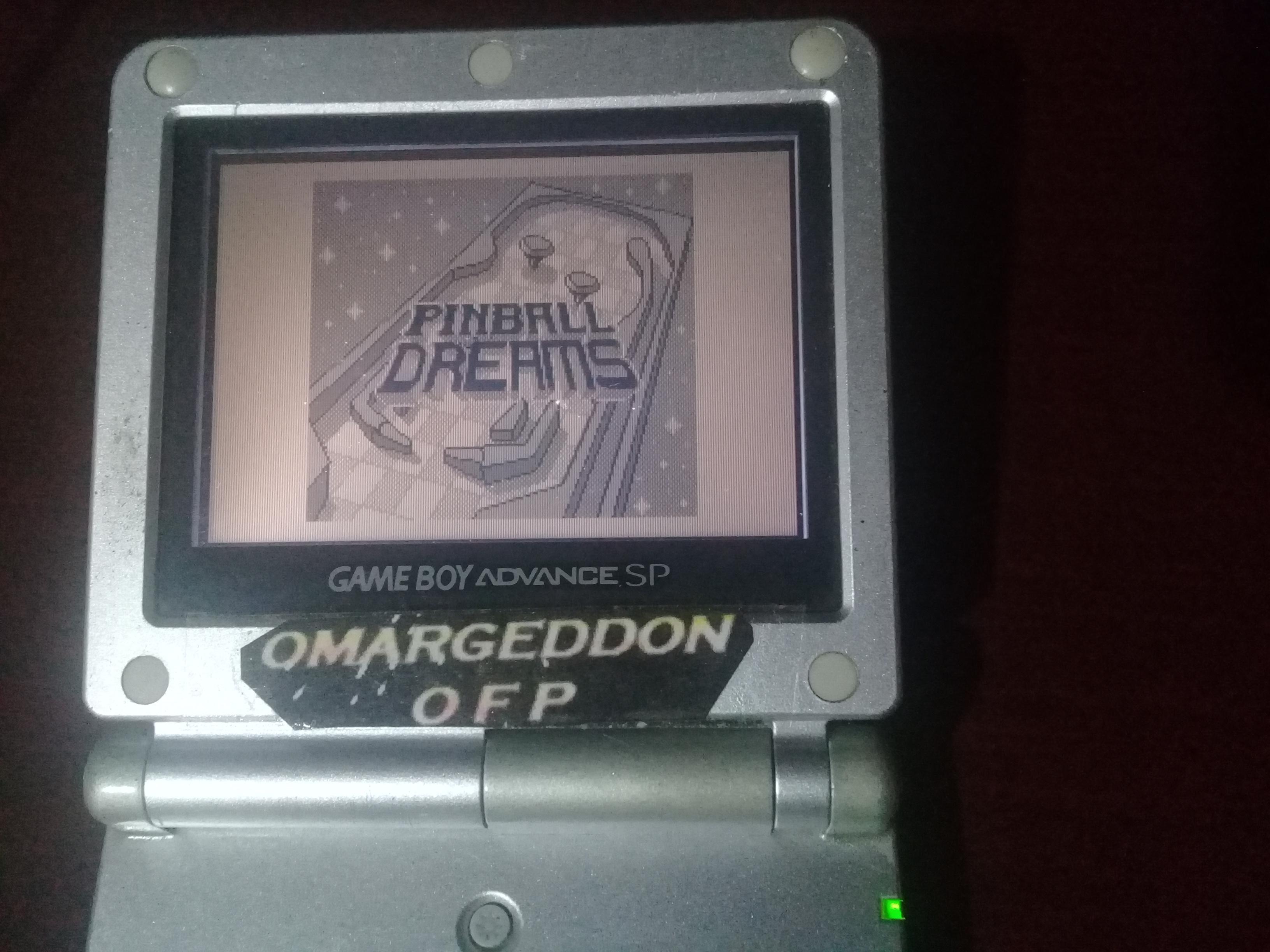 omargeddon: Pinball Dreams: Graveyard (Game Boy) 16,366,711 points on 2019-01-12 14:12:25
