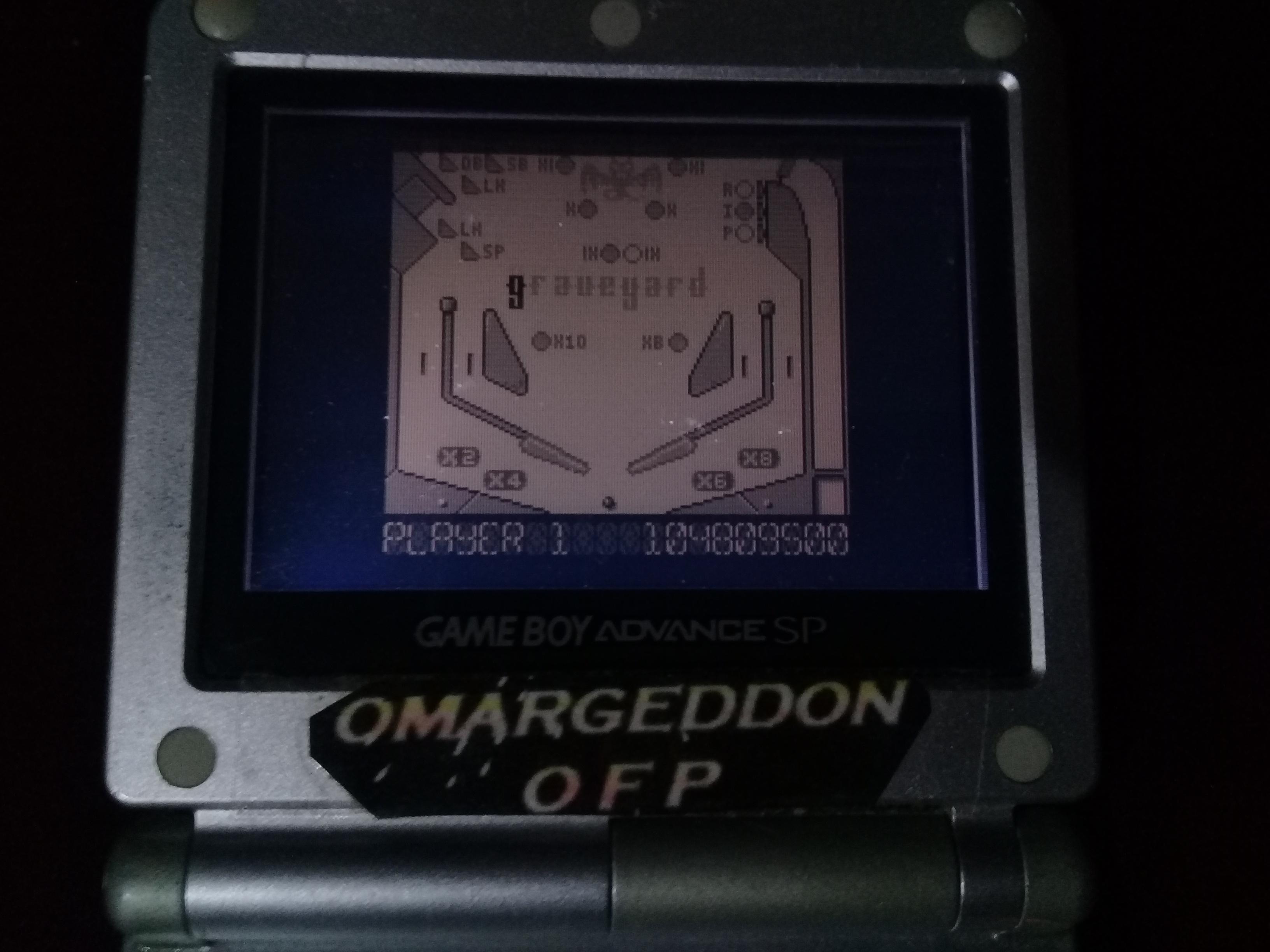 omargeddon: Pinball Dreams: Graveyard (Game Boy) 104,809,500 points on 2019-02-27 21:58:06