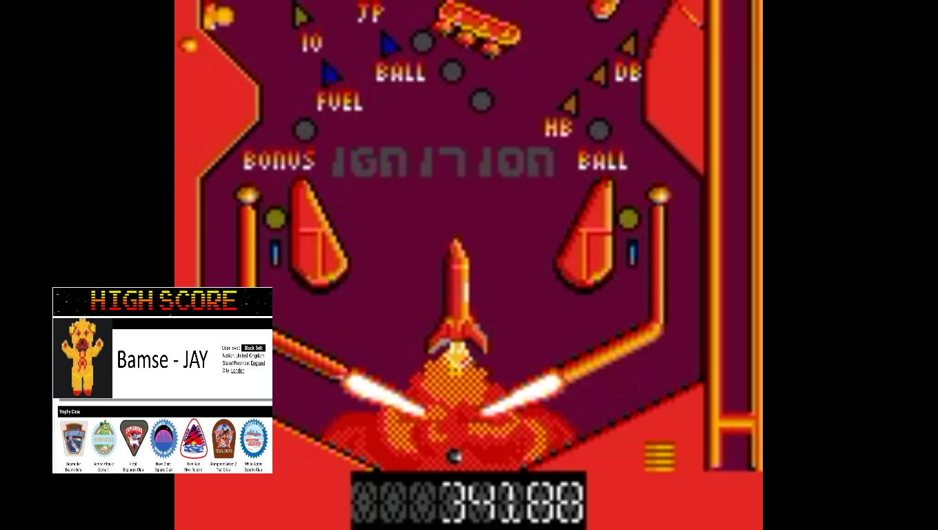 Bamse: Pinball Dreams: Ignition (Sega Game Gear Emulated) 34,188 points on 2019-11-05 18:17:20