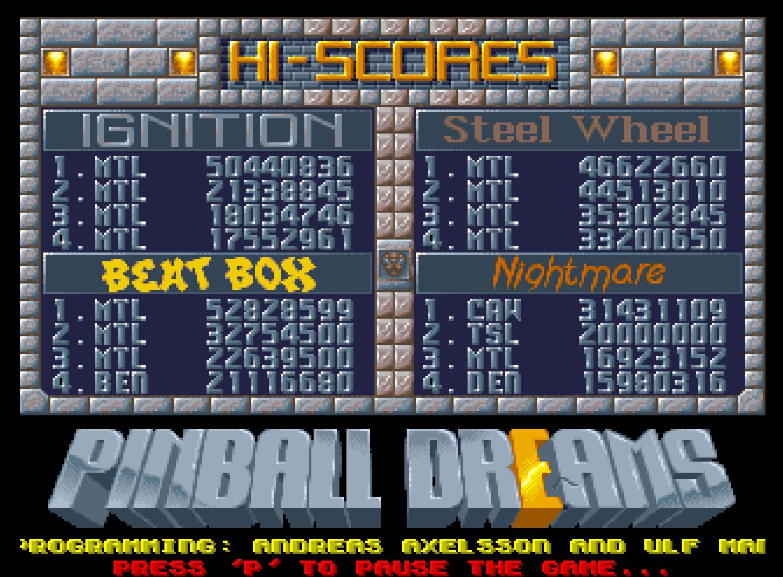 Mantalow: Pinball Dreams: Steel Wheel (Amiga Emulated) 46,622,660 points on 2016-09-20 10:28:40
