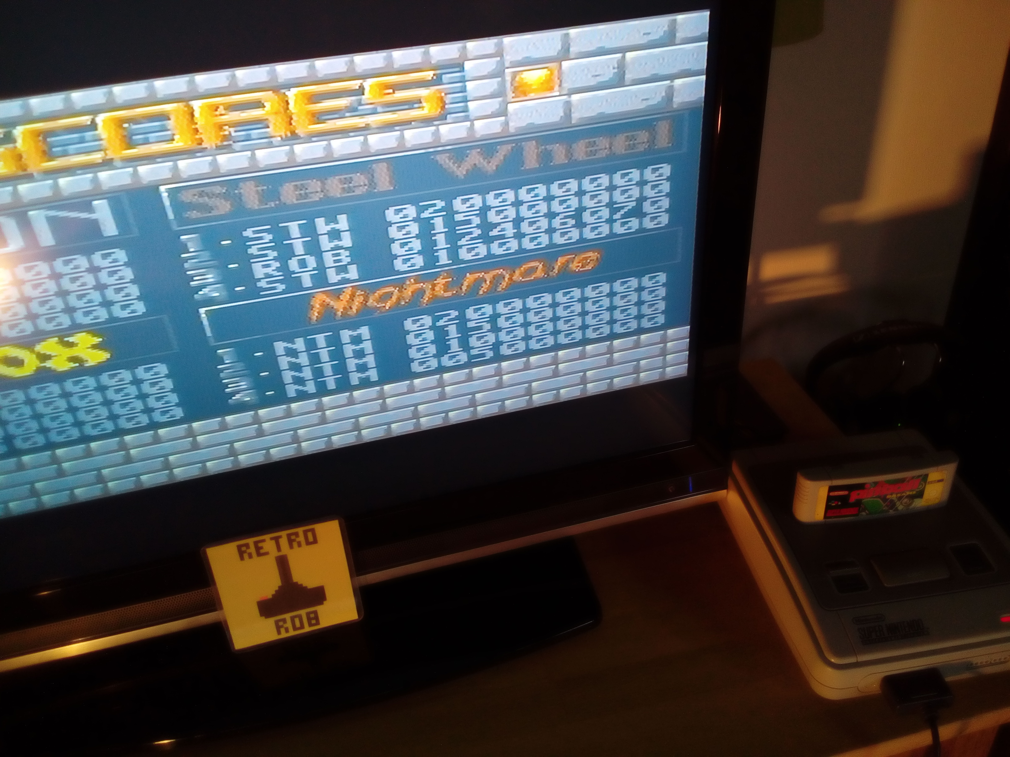 RetroRob: Pinball Dreams: Steel Wheel (SNES/Super Famicom) 12,406,070 points on 2019-10-06 08:39:38