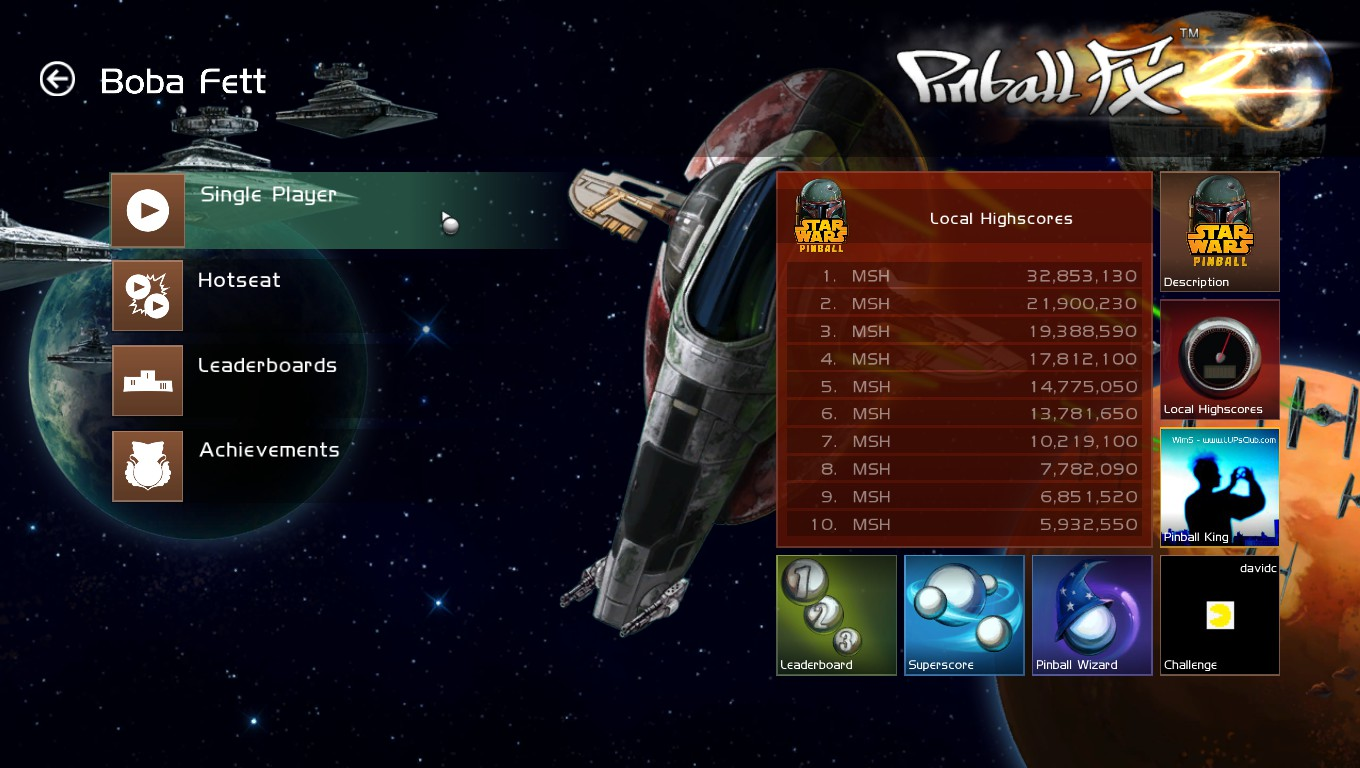 Mark: Pinball FX 2: Boba Fett (PC) 32,853,130 points on 2018-05-23 01:13:34