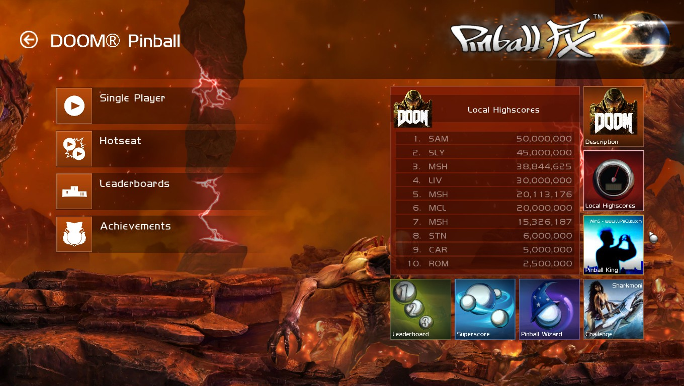 Mark: Pinball FX 2: Doom Pinball (PC) 38,844,625 points on 2018-05-05 00:57:14