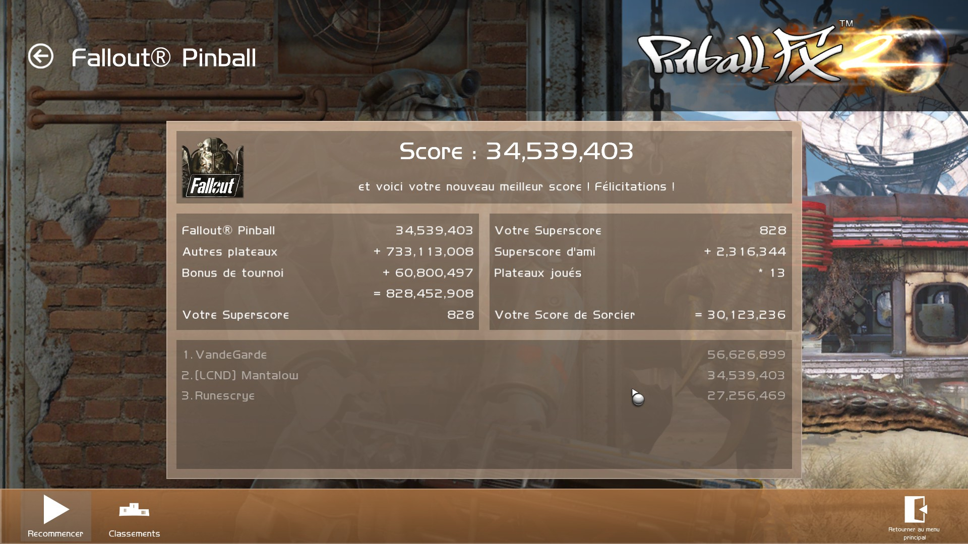 Mantalow: Pinball FX 2: Fallout Pinball (PC) 34,539,403 points on 2016-12-08 04:32:36