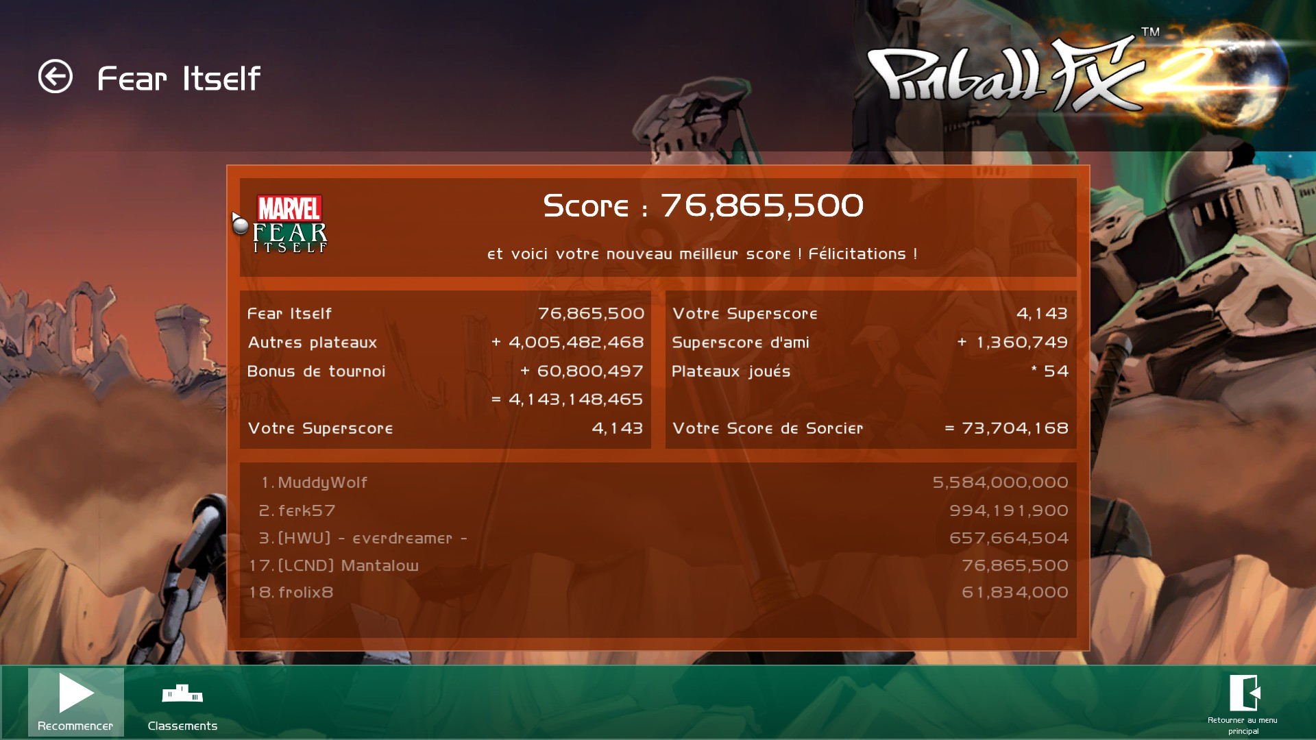 Mantalow: Pinball FX 2: Fear Itself (PC) 76,865,500 points on 2015-07-22 04:42:13