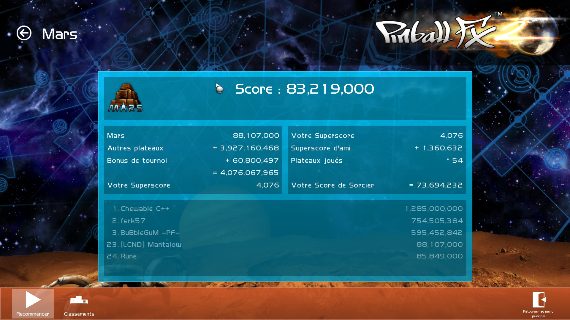 Mantalow: Pinball FX 2: Mars (PC) 88,107,000 points on 2015-07-21 11:25:17